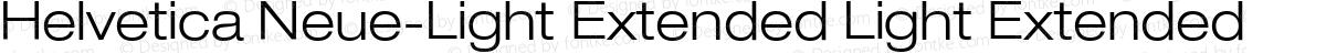 Helvetica Neue-Light Extended Light Extended