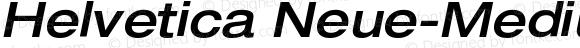 Helvetica Neue-Medium Extended Medium Extended Oblique
