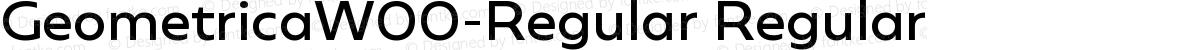 GeometricaW00-Regular Regular
