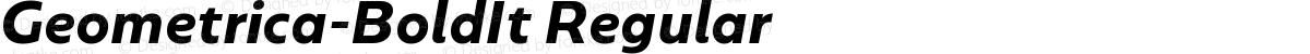 Geometrica-BoldIt Regular