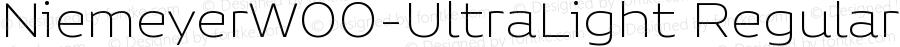 NiemeyerW00-UltraLight Regular Version 1.00