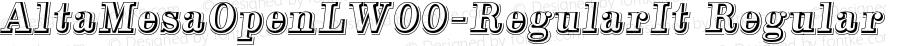 AltaMesaOpenLW00-RegularIt Regular Version 1.00