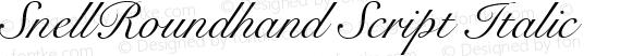 SnellRoundhand Script Italic V.1.0