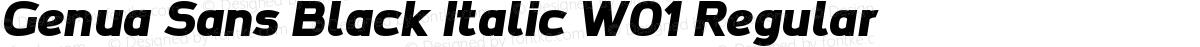 Genua Sans Black Italic W01 Regular