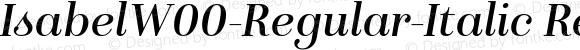 IsabelW00-Regular-Italic Regular Version 1.00