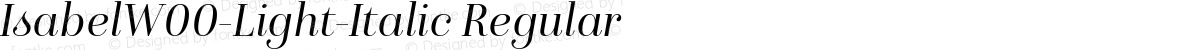 IsabelW00-Light-Italic Regular