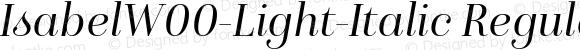 Isabel W00 Light-Italic