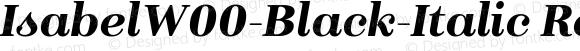 Isabel W00 Black-Italic