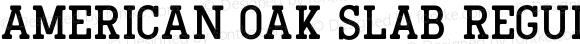 American Oak Slab Regular Version 1.000;PS 001.000;hotconv 1.0.88;makeotf.lib2.5.64775