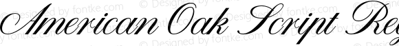 American Oak Script Regular Version 1.000;PS 001.000;hotconv 1.0.88;makeotf.lib2.5.64775