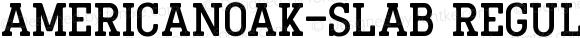 AmericanOak-Slab Regular Version 1.000;PS 001.000;hotconv 1.0.88;makeotf.lib2.5.64775
