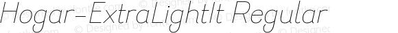 Hogar-ExtraLightIt Regular Version 1.000;PS 001.000;hotconv 1.0.88;makeotf.lib2.5.64775