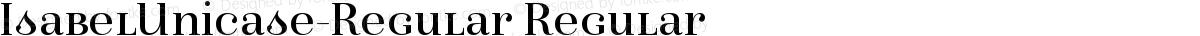 IsabelUnicase-Regular Regular