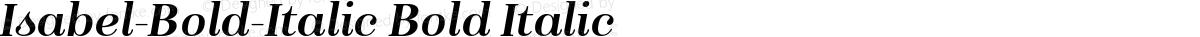 Isabel-Bold-Italic Bold Italic