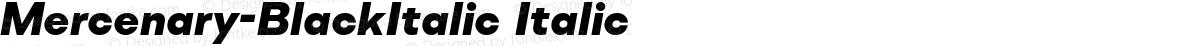 Mercenary-BlackItalic Italic