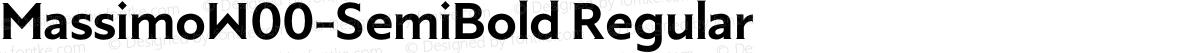 MassimoW00-SemiBold Regular