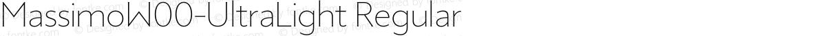 MassimoW00-UltraLight Regular