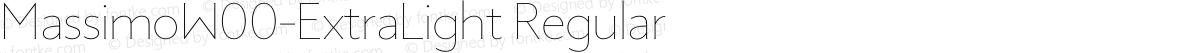 MassimoW00-ExtraLight Regular