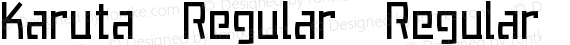 Karuta Regular Regular preview image