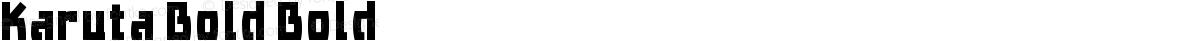 Karuta Bold Bold