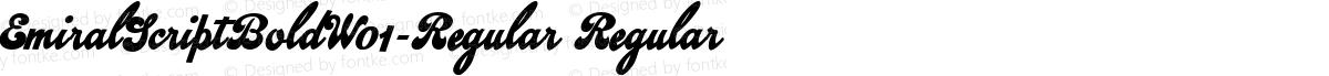 EmiralScriptBoldW01-Regular Regular
