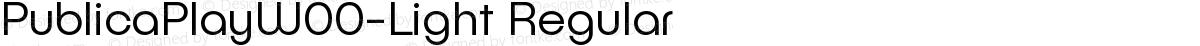 PublicaPlayW00-Light Regular