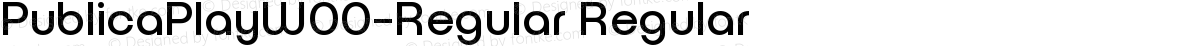PublicaPlayW00-Regular Regular