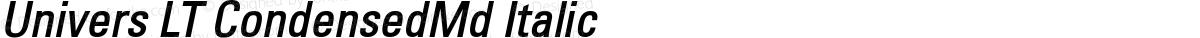 Univers LT CondensedMd Italic