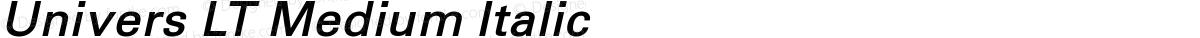 Univers LT Medium Italic
