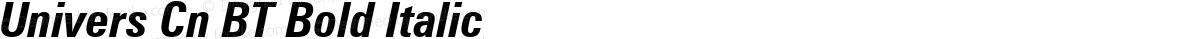 Univers Cn BT Bold Italic