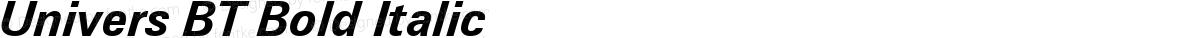 Univers BT Bold Italic