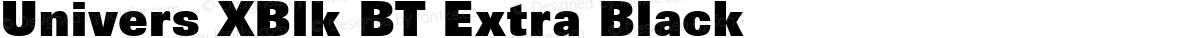 Univers XBlk BT Extra Black