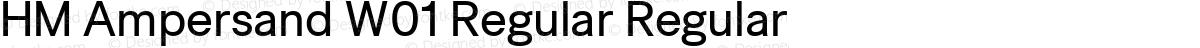 HM Ampersand W01 Regular Regular