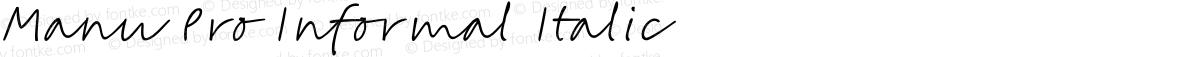 Manu Pro Informal Italic