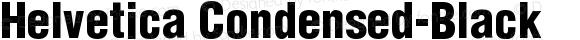 Helvetica Condensed-Black
