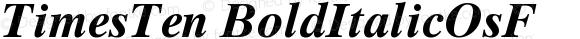 TimesTen BoldItalicOsF Version 001.001
