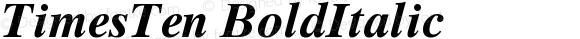 TimesTen BoldItalic Version 001.001