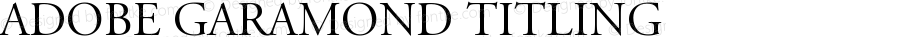 Adobe Garamond Titling Capitals