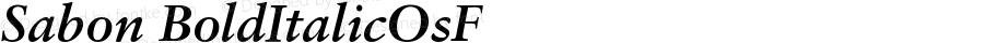 Sabon Bold Italic Oldstyle Figures