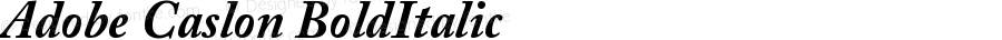 Adobe Caslon Bold Italic