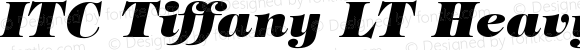 ITC Tiffany LT HeavyItalic Version 006.000