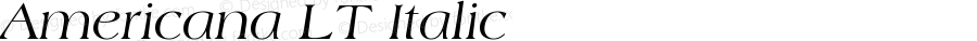 Americana LT Italic Version 006.000