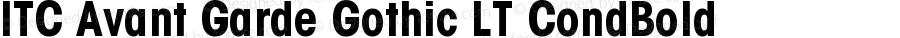 ITC Avant Garde Gothic LT Condensed Bold