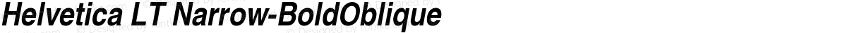 Helvetica LT Narrow-BoldOblique