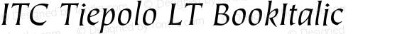ITC Tiepolo LT BookItalic Version 006.000