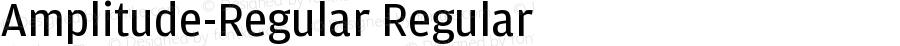 Amplitude-Regular Regular Version 001.000