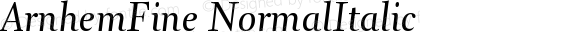 ArnhemFine NormalItalic Version 001.000