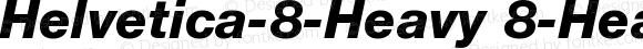 Helvetica-8-Heavy 8-Heavy-Italic
