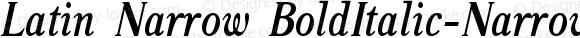 Latin Narrow BoldItalic-Narrow