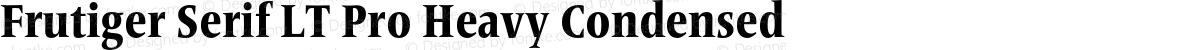 Frutiger Serif LT Pro Heavy Condensed